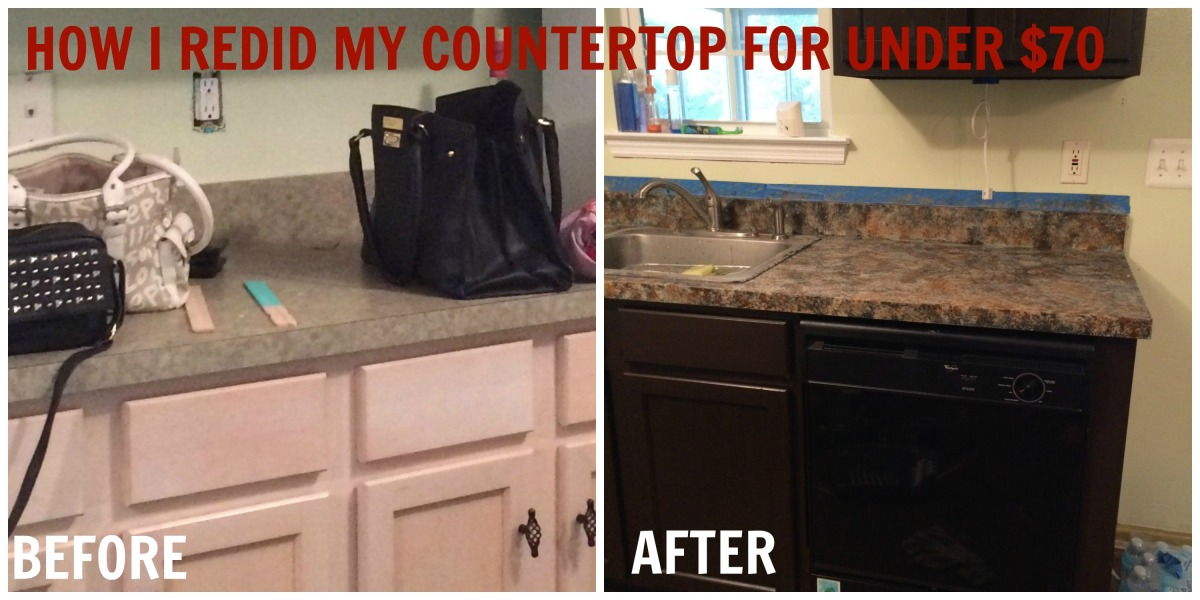 How I Redid my Kitchen Counters for under $70